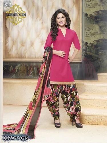 282af37891 Satin Printed Patiala Salwar Suit, Rs 469 /piece, Leemboodi Fashion ...