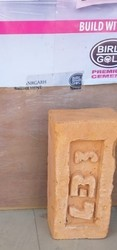 Square red bricks, For Side Wall, Size: 4