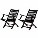 Black Rosewood Folding Chairs