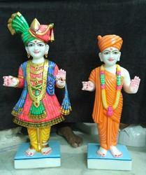 Handcrafted Marble Swami Narayan Statue
