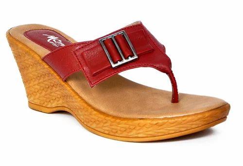 d1baa1b9aeda Ladies Fancy Wedge Heel Chappal