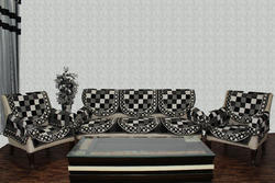 Check designs Sofa Cover Destiny Black 1620