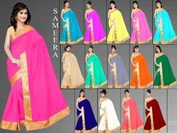 Sameera Cotton Saree With Blouse
