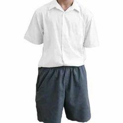 White Cotton Boy's School Uniform
