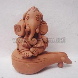 Antique Veena Ganesha Statue
