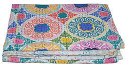 Suzani Cotton Kantha Quilt
