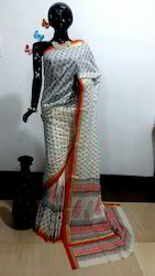 Casual Wear Pure Cotton Saree, With Blouse Piece