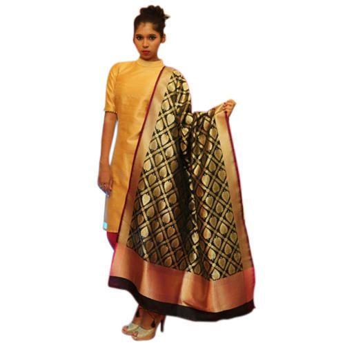 Handloom Silk Dupatta, Banarasi Dupatta - Heena Arts, Varanasi ...