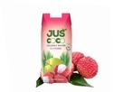 Juscoco Lychee Flavored Coconut Water