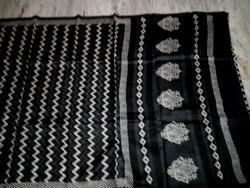 Zig Zag Printed Chanderi Saree