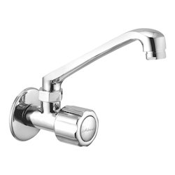 Adroit Silver Continental Series Brass Sink Cock For Bathroom Fittings