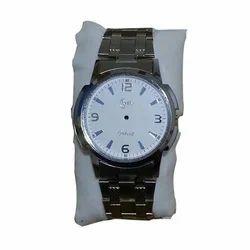Round Formal Watches Silver Mens Watch