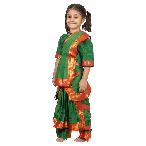 f3b6576f3d77 Green And Red Polyester Bharatanatyam Dress, Rs 250 /piece | ID ...