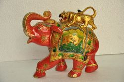 Box Wooden Elephant Statue