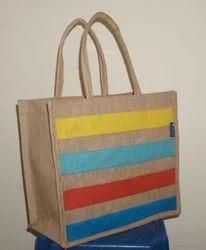 Multi Color Jute Shopping Bag