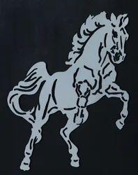 Metal Horse Wall Piece