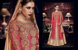 Single Color Bridal And Party Wear Ladies Designer Suits