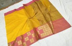 Pure Cotton Banarasi Saree, Length: 5.5 m