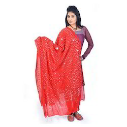 Traditional Gujarati Bandhej Dupatta 108