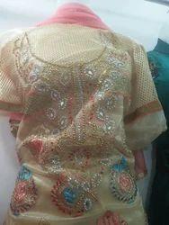Ladies Stone Art Churidar Suit
