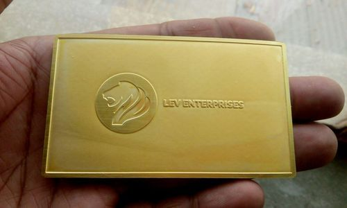 Gold metal business card metal business cards etch india greater gold metal business card colourmoves