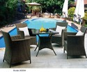 Outdoor Metal Chair and Table