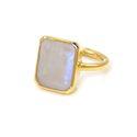 Rainbow Moonstone Gemstone Ring