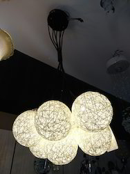 Fluorescent Bulb Brown Chandelier, For Hotel, Living Room