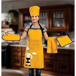 Dark Goldenrod Top Chef Apron Set
