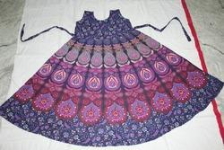 Rajasthani Print Peacock Frock & Dress