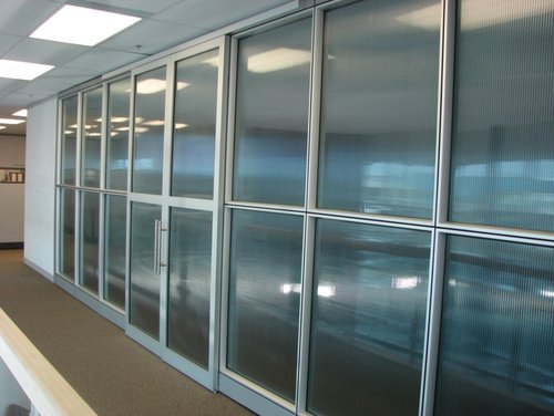 Fiber Glass Aluminium Partition Rs 140 Square Feet