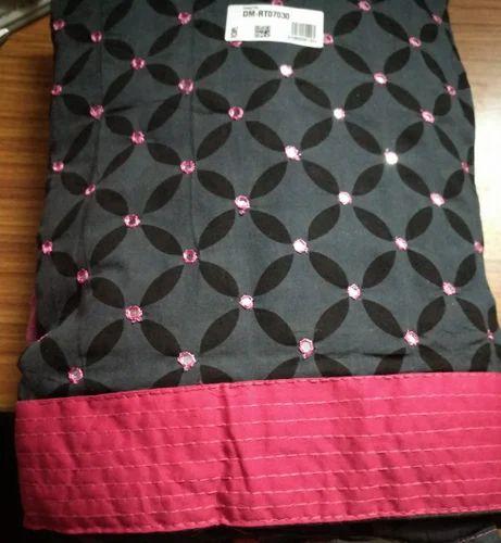 bde88a471d Regular Wear Printed Bandhej Dress Material, Bottom Size (Metre): 2.5 Mtrs