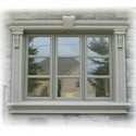 White Rectangular Grc Modern Window Frame