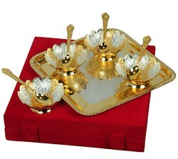 Rawsome Shack Lotus Shape Dual Tone Bowl Set Wedding Gift