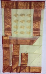 Pure Chanderi and Silk Party Wear Saree