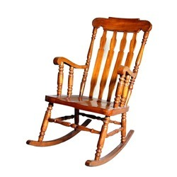 Light Brown Antique Rocking Chair
