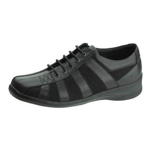 30c910595bdd Black Men Soft Leather Diabetic Shoes