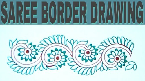 Draw Embroidery Saree Border Design At Rs 350 Piece Embroidery