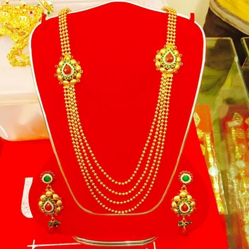 manufacturer of gold necklace set jewelry set by mehta jewels surat