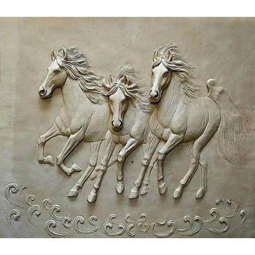 running horses wall sculpture divar moortiyan dream view art