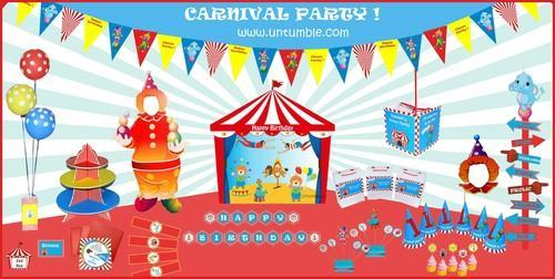 carnival themes birthday supplies at rs 1500 pack birthday