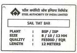 Sail TMT Bar Tag For Decoiling Contractors
