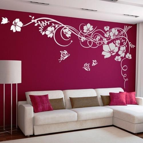 Wall Painting   Flower Design Wall Painting Architect / Interior Design /  Town Planner From Surat