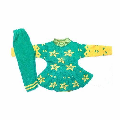 08667637868a Girls 2 Piece Baby Girl Woolen Suit