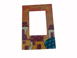 Painted Wooden Photo Frame