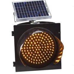 Yellow Solar Traffic Blinker