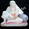 White Marble Shirdi Sai Baba Statue