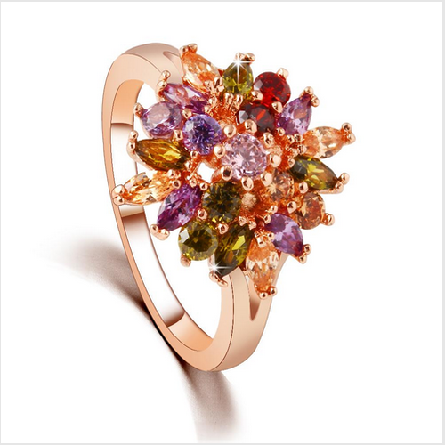 0c0d3b7e3 Genuine Swarovski Crystal Zircon Multi-Color Ring - Olive Tree ...