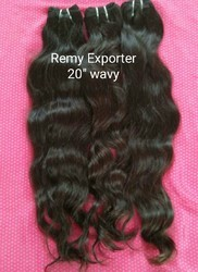 Remy Hair Extensions Machine Weft Wavy