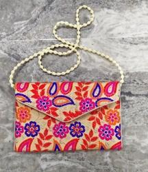 Female Jute Designer Embroidery Ladies Clutch